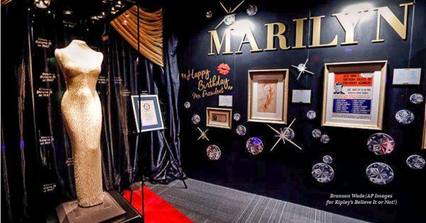 "1800329 Ripleys Believe Marilyn Monroe Dress Edit 600x314 - Marilyn Monroe's $5 million ""Happy Birthday, Mr. President"" dress coming to Branson!"