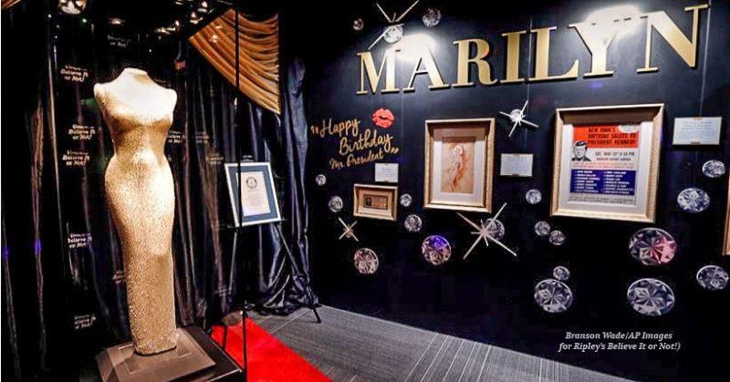 "1800329 Ripleys Believe Marilyn Monroe Dress Edit 800x419 - Marilyn Monroe's $5 million ""Happy Birthday, Mr. President"" dress coming to Branson!"
